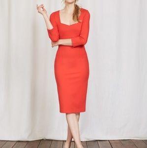 Boden Rebecca Ponte Knit Dress 2 Petite